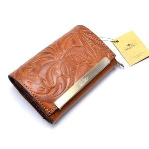 PATRICIA NASH Cametti Leather Tri Fold Wallet